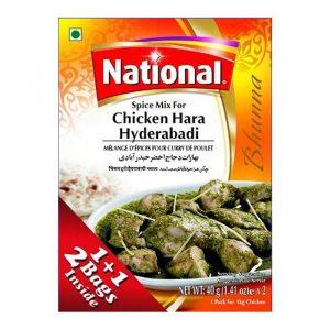 Chicken Hara Hyderabadi National Spices